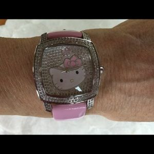 Hello Kitty One of a Kind Diamond Encrusted Watch